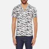 J. Lindeberg Men's Dani Short Sleeve Drapey Print Shirt
