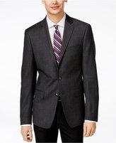 Calvin Klein Men's Slim-Fit Grey Herringbone Sport Coat