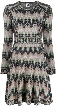 M Missoni flared knitted dress