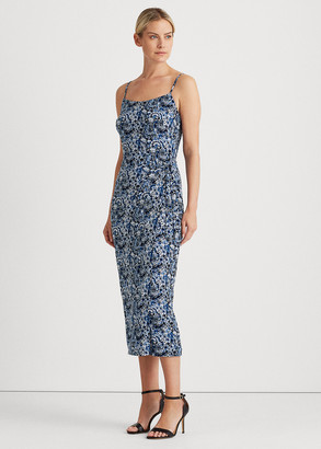 Ralph Lauren Floral Midi Jersey Dress