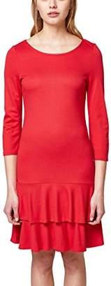 Esprit Women's 038ee1e009 Dress, (Red 630), Large