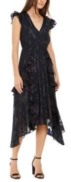 INC International Concepts Inc Petite Burnout-Print Midi Dress, Created for Macy's