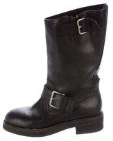 Marni Leather Moto Boots