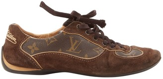 Louis Vuitton Brown Suede Trainers