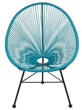 Bronx Aymond Patio Chair Ivy Color: Blue