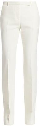 Alexander McQueen Light Wool & Silk Flare Pants