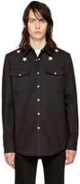 Givenchy Black Denim Stars Shirt