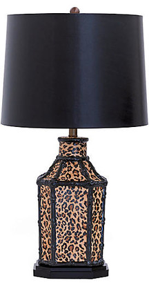 Port 68 Amelia Table Lamp - Faux Leopard/Black