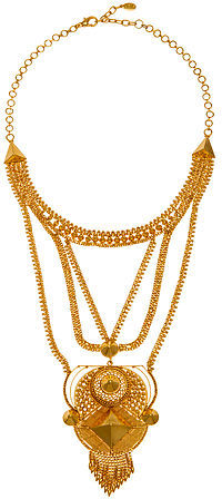 Noir The Darjeeling Collection Rising Temple Necklace in 18k