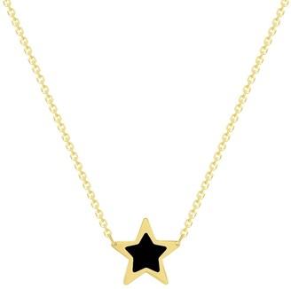 Ron Hami 14K Yellow Gold Onyx Star Pendant Necklace