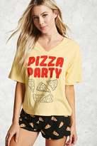 Forever 21 FOREVER 21+ Pizza Party PJ Set