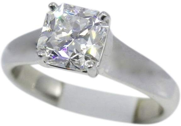 Tiffany & Co. Lucida Platinum 1.84ct Diamond Engagement Ring Size 7.0