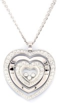 Chopard 18K White Gold Diamond Happy Hearts Necklace