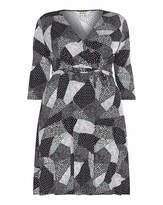 Yumi Curves Mono Pop Jersey Wrap Dress