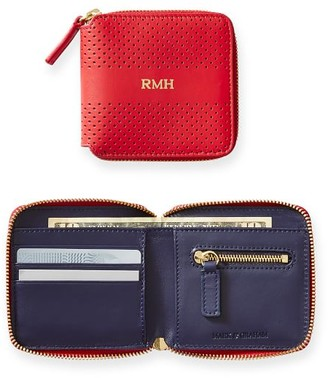 Mark & Graham Perforated Leather Square Wallet