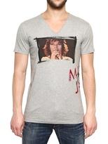 Dolce & Gabbana Mick Jagger Print Cotton Jersey T-Shirt