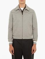 Lanvin Grey Felt Harrington Jacket