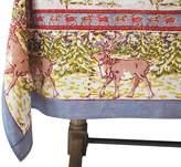 Pottery Barn Winter Reindeer Block Print Tablecloth