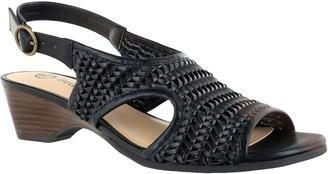 Bella Vita Woven Wedge Sandals - Justine II
