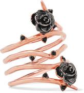 Noir Desirous Rose-Gold Tone Enamel Ring