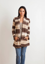 Goddis Allie Boyfriend Cardigan In Choco Puff