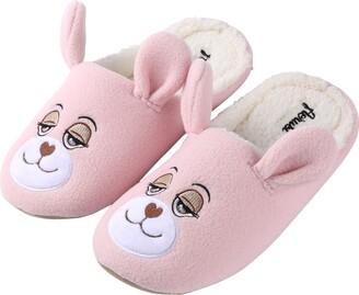 Aerusi Women's Flopsy Teddy Bear Slipper