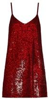 Ashish Sequin-embellished silk-georgette mini dress