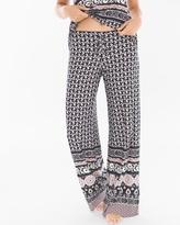 Soma Intimates Wayside Pajama Pants Blush Pink/Black