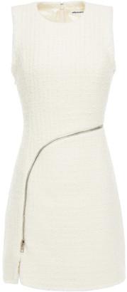 Alexander Wang Zip-detailed Metallic Tweed Mini Dress