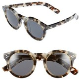 Illesteva 'Leonard II' 50mm Round Mirrored Sunglasses