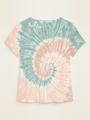 Old Navy EveryWear Tie-Dyed V-Neck Tee for Women