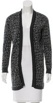 Magaschoni Leopard Patterned Silk & Wool-Blend Cardigan