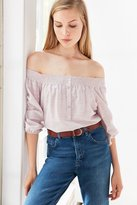 BDG Smocked Off-The-Shoulder Blouse