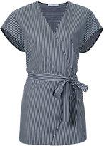 ASTRAET striped wrap top - women - Cotton - One Size