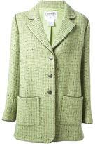 Chanel Vintage Manteau En Tweed