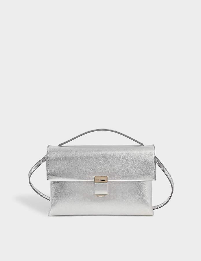 Giorgio Armani Silver hinge bag