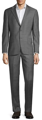 Hickey Freeman Milburn IIM Series T Regular-Fit Wool Suit