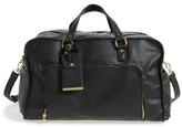 BP Faux Leather Overnight Bag - Black