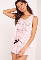 Missguided Dance All Night Pyjama Set Pink