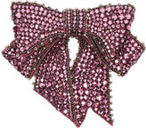 Gucci Pink Crystal Bow Brooch