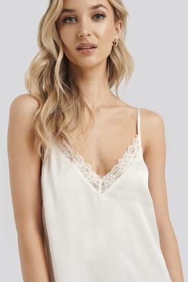 NA-KD Satin Lace Edge Night Dress