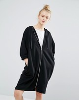 Monki Hooded Sweat Dress