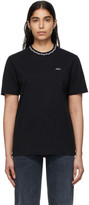 Noah NYC Black Geometric Collar T-Shirt