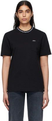 Noah NYC Black Geometric Collar T-Shirt