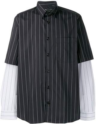 Diesel double sleeve striped shirt