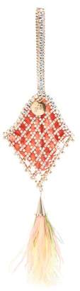 Rosantica X Peter Pilotto Crystal-lattice Clutch - Womens - Multi