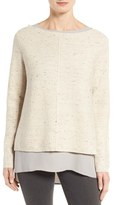 Eileen Fisher Women's Peppered Organic Cotton Blend Sweater