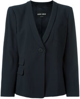 Giorgio Armani one button blazer - women - Spandex/Elastane/Viscose/Virgin Wool - 42