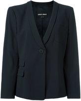 Giorgio Armani one button blazer - women - Spandex/Elastane/Viscose/Virgin Wool - 42