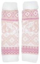 Muk Luks Women's Romance Fairisle Armwarmers - Light Pink